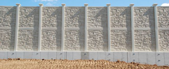 Integrated-Retaining-Wall-Noise-Barriers, Noise Barrier Wall Product Solutions