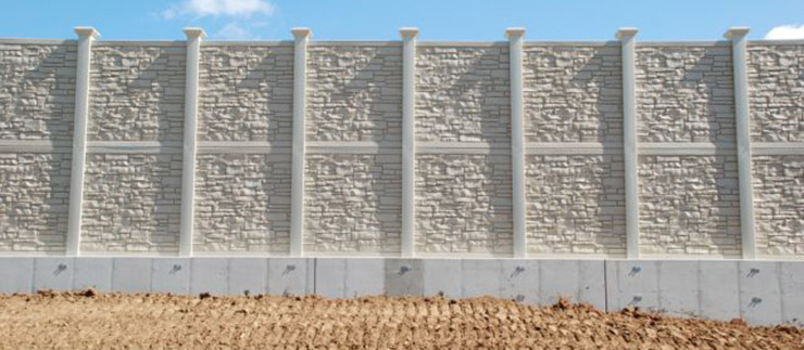 Integrated retaining wall - noise wall 1.