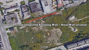 Silentium Group Integrated Noise Wall Retaining Wall