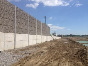 """Silentium Group's Integrated Retaining Wall / Noise Barrier Wall """"Steps Up"""" for Property Developer"""