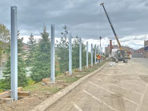 """Silentium Group """"Posts Up"""" with Big Box Development Noise Wall Project"""
